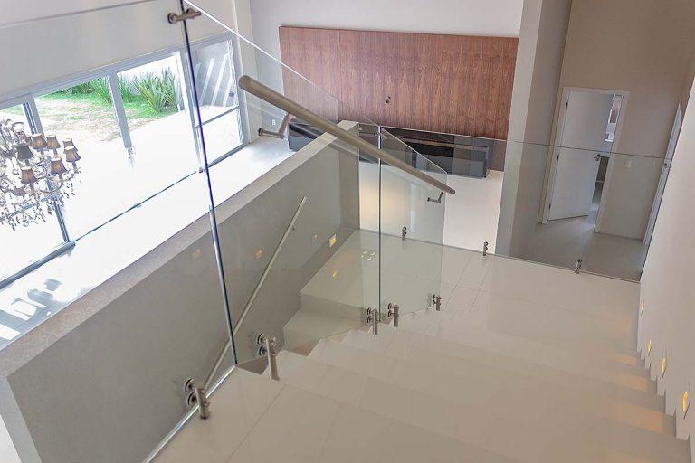 Lukisa vidro temperado guarda-corpo Esquadria de Aluminio Bauru Sala